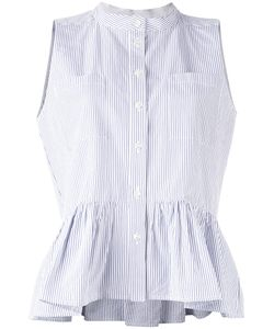 Sea | Pinstripe Frill-Trim Blouse 8