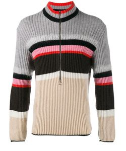 HELEN LAWRENCE | Striped Half-Zip Jumper Small Polyamide/Mohair/Wool/Lambs Wool
