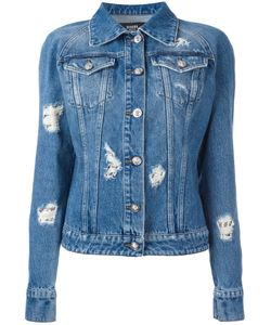 Versus | Distressed Denim Jacket 42 Cotton/Metal
