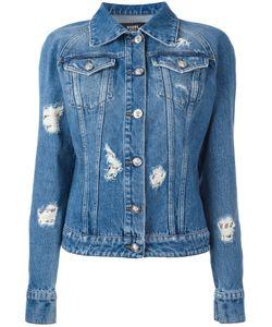 Versus | Distressed Denim Jacket 42 Cotton/Metal