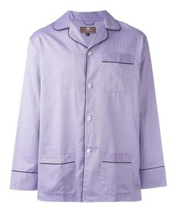OTIS BATTERBEE | Lilac Herringbone Pyjama Set Medium Cotton