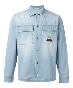 ICEBERG | Palm Tree Denim Shirt Size Xl