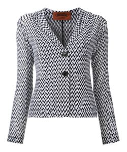 Missoni | Zig-Zag Pattern Blazer 40 Cotton/Viscose