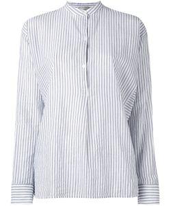 Vince | Полосатая Рубашка С Воротником-Мандарин