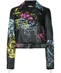Jeremy Scott | Printed Biker Jacket Women