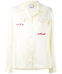 Maharishi   Рубашка С Вышивкой На Спине