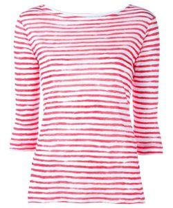 MAJESTIC FILATURES | Striped T-Shirt Iv Linen/Flax