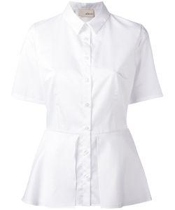 Elaidi | Peplum Hem Short Sleeve Shirt Size 36