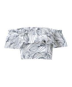 Isolda | Printed Ruffle Blouse