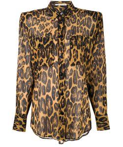Alessandra Rich | Leopard Print Shirt Size