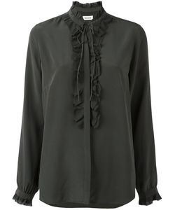 Zadig & Voltaire   Ruffled Trim Blouse Large Silk