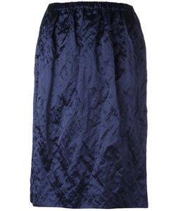 Jil Sander | Ruched Effect Skirt 34 Cotton/Viscose Fibre