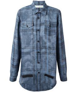 OFF-WHITE | Plaid Shirt Medium Linen/Flax