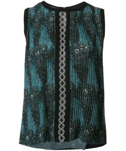 Yigal Azrouel | Tribal Print Pleated Top Size 0