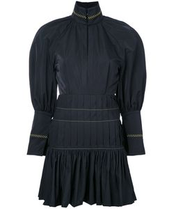 Ellery | Pleated Trim Fitted Dress 6 Polyester