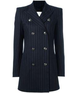 Pierre Balmain | Double Breasted Blazer 42 Cotton/Wool/Spandex/Elastane/Viscose