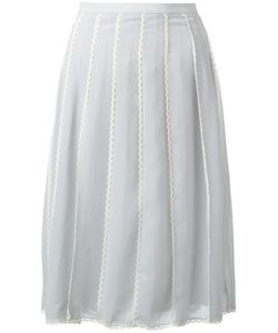 Red Valentino | Pleated Midi Skirt 46 Polyester/Polyamide