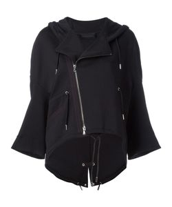 Diesel Black Gold | Hooded Biker Jacket Medium Cotton/Polyester