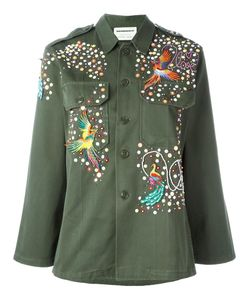 Night Market | Bird Embroide Jacket Medium Cotton/Polyester/Glass/Metal
