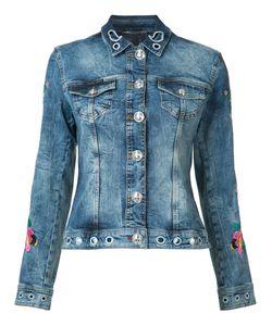 Philipp Plein | Embroidered Denim Jacket Size Medium