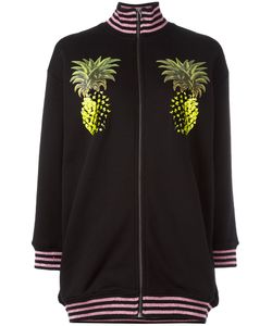 GIAMBA | Pineapple Print Bomber Jacket 38 Cotton