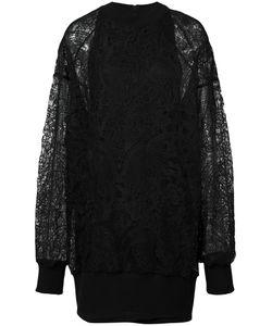 Vera Wang   Pullover Dress With Slip 2 Cotton/Silk/Nylon