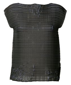 Issey Miyake | Distressed Woven Top