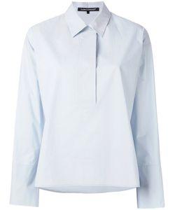 Luisa Cerano   Open V-Neck Shirt 40 Cotton