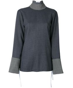 Saks Potts | Fla Sleeves Checked Blouse 1 Virgin