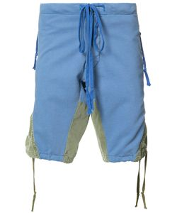 GREG LAUREN | Panelled Shorts Size 2