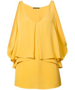 Kobi Halperin | Open Shoulder Draped Blouse Silk
