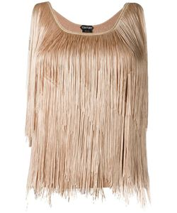 Tom Ford | Fringed Top Small Polyester/Acetate/Viscose