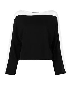 Alberta Ferretti | Striped Panel Jumper 44 Cotton