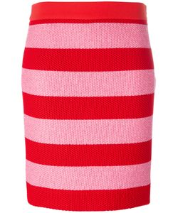 BOUTIQUE MOSCHINO   Striped Fitted Skirt 44 Cotton/Polyamide
