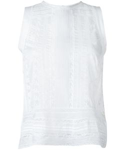 Ermanno Scervino | Sleeveless Sheer Blouse