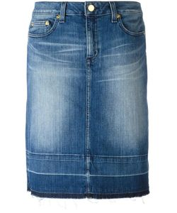 Michael Michael Kors | Stonewashed Denim Skirt 6 Cotton/Spandex/Elastane
