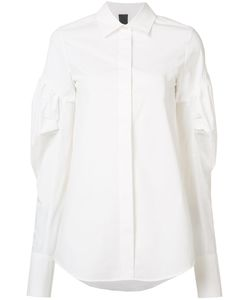 Vera Wang | Puff Sleeve Shirt 2 Cotton
