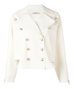 Lanvin | Double Breasted Band Jacket 36 Cotton/Spandex/Elastane/Silk