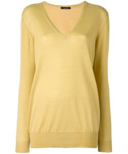 Roberto Collina | V-Neck Sweater Large Cashmere