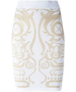 Versace Jeans | Stylised Design Skirt Small Polyamide/Viscose/Metallized Polyamide