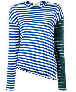 Ports | 1961 Contrast Stripe Jumper Large Virgin Wool