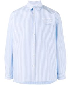 MARTINE ROSE | Logo Embroide Striped Shirt Xs Cotton
