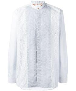 Paul Smith | Printed Band Collar Shirt Large Cotton