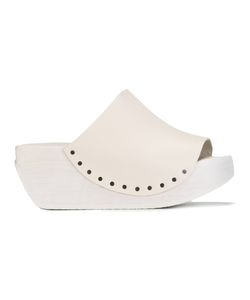 Trippen | Egypt Platform Sandals 36 Leather/Wood/Rubber