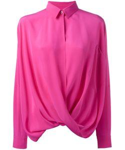 Moschino   Шелковая Драпированная Рубашка