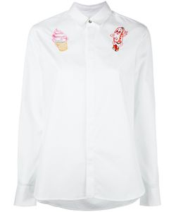 Kenzo | Badges Embroide Shirt 40 Cotton