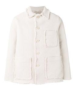 MAISON FLANEUR | Fringed-Trim Jacket 48 Cotton