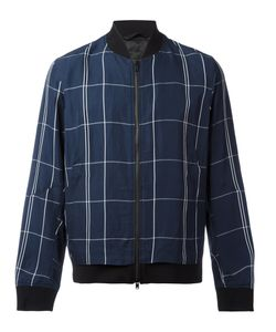 Theory | Maxi Check Bomber Jacket Size Xl