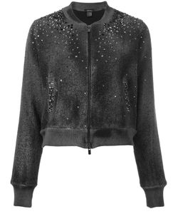 Avant Toi | Studded Allover Bomber Jacket Small