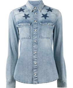 Givenchy | Star-Printed Denim Shirt 40 Cotton